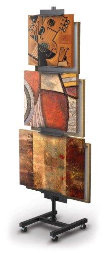 Trendrite Standard Aluminum Art Tree Print Rack Easel, Holds up to 6 Prints by DisplayFair