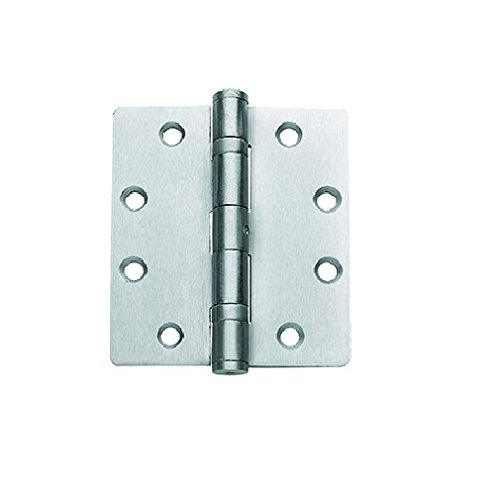 Global Door Controls CP4540BBNRP-26D Imperial USA 4.5 x 4.0 inch Satin Chrome Full Mortise Ball Bearing Nrp Hinge,