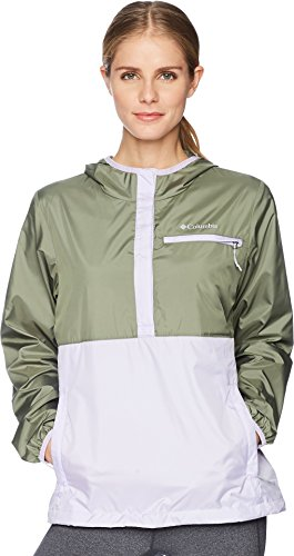 (Columbia Women's Mountain Side Windbreaker Cypress/Soft Violet Medium )