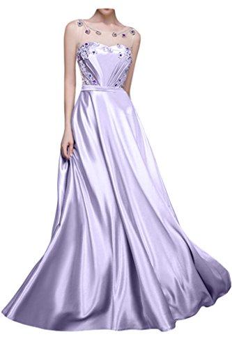 Sunvary Robe Longue Robe de Ceremonie Robe de Soiree Robe de Bal Elegante Jolie en Taffeta A-ligne Nouvelle 2016 Faux Diamant Plisse Col Transparent Dos Nu