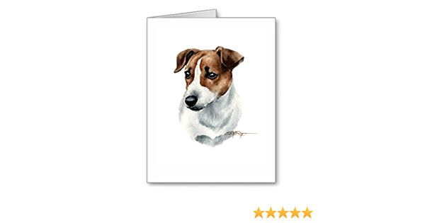 Jack Russell  4 Blank Note cards