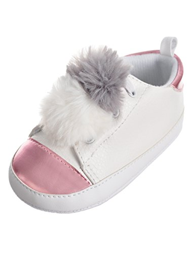 t Steps by Baby Little Girls' Toddler Sneaker Booties - White, 3 Infant ()