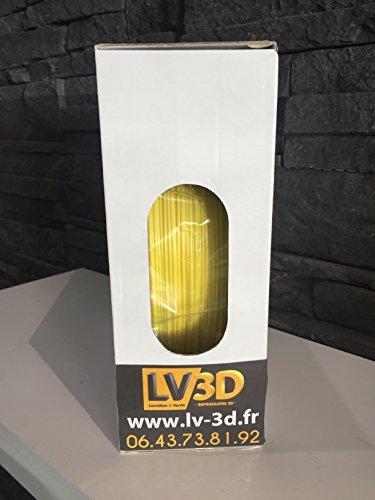Filament LV3D PLA Jaune 1,75mm (bobine 1kg) – Made in France