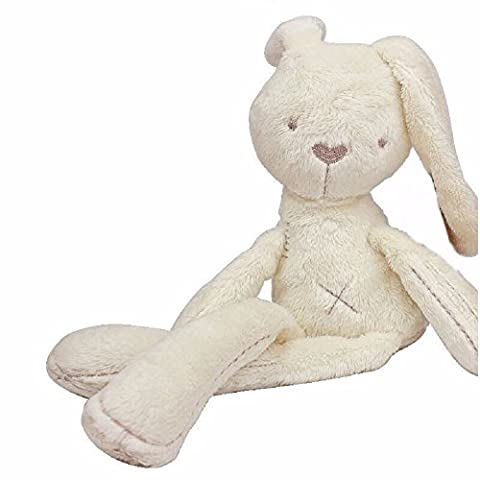 Soft Snuggle Bunny Plush - Childs first bubby doll - Natural Cotton & Natural Color - Bunny Rabbit Toy