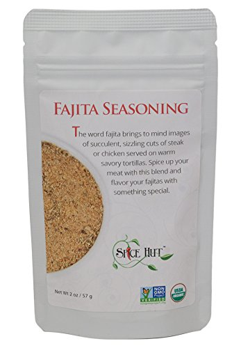 - The Spice Hut Organic Fajita Seasoning, Latin American/Mexican cooking, 2 oz