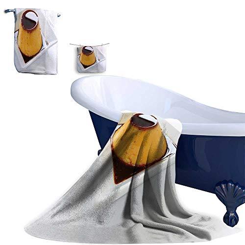 - Leigh home 3-Piece Luxury Hotel/Spa 100%,Caramel custar custar pud fl Spa Towel, Sauna Towel, Bath Towel or Bath Sheet