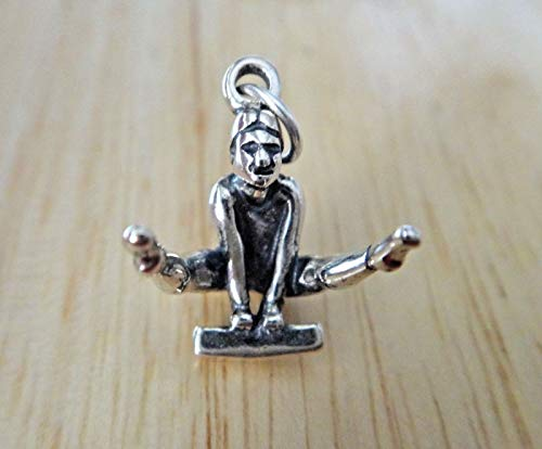 1 Sterling Silver 3D 16x12x13mm Parallel Balance Beam Vault Gymnastics Charm Jewelry Making Supply, Pendant, Sterling Charm, Bracelet, Beads, DIY Crafting and Other by Wholesale Charms