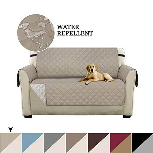 Turquoize Premium Reversible Loveseat Slipcover Chair and a Half Slipcover Couch Slip Cover for Pets, Kids with 2