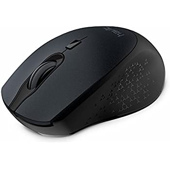 2.4G Wireless Mouse HAVIT 2000DPI Optical Mini Portable Mobile with USB Receiver, 3 Adjustable DPI Levels, 4 Buttons for Notebook, PC, Laptop, Computer, Macbook - Black