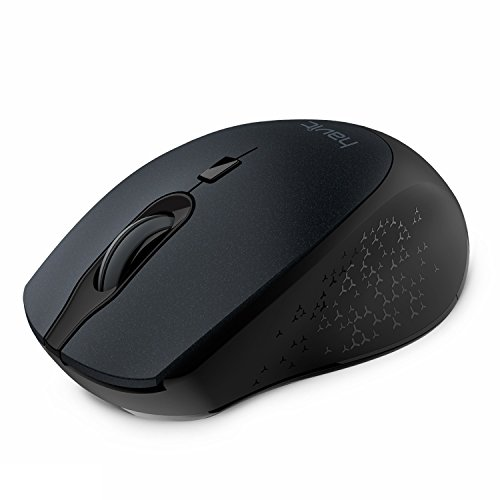 2.4G Wireless Mouse HAVIT 2000DPI Optical Mini Portable Mobile with USB Receiver, 3 Adjustable DPI Levels, 4 Buttons for Notebook, PC, Laptop, Computer, Macbook - Black - Mini Laptop Computers