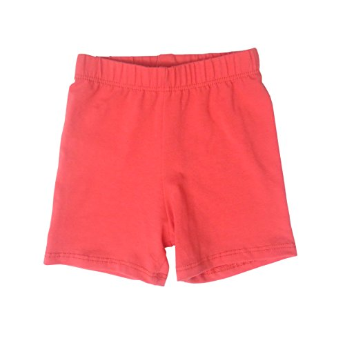 Daffodil Baby and Toddler Shorts - Boys Girls Cotton Short Pants Available In Multiple Colors and Sizes Coral 3T