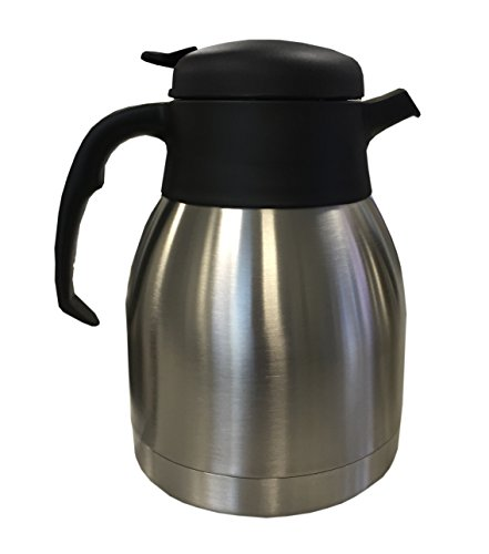 Wilbur Curtis Thermal Dispenser Pour Pot, 1.2L S.S. Body S.S. Liner Push Lever - Commercial Airpot Pourpot Beverage Dispenser - TLXP1201S000 (Each) (Hotel Coffee Carafe compare prices)