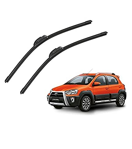 Mockhe Wiper Blades For Toyota Etios Cross Set Of 2 Pcs D 22p 16