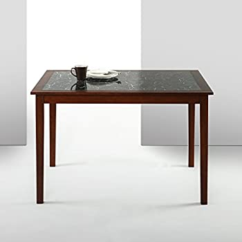 Zinus Faux Marble And Wood Dining Table Only