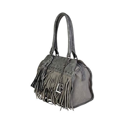Rrp Genuine Laura Shoulder Biagiotti Designer Bag Grey Women xpqg6nPwq0