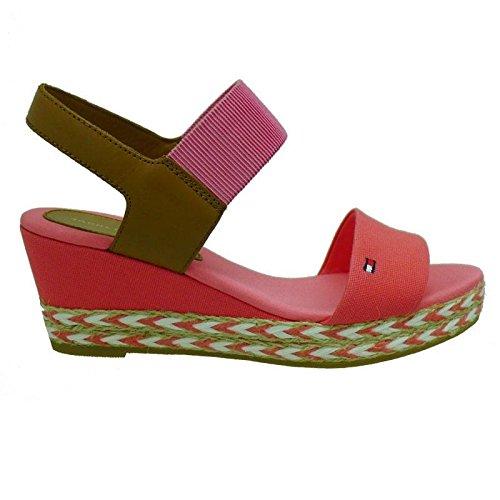 Tommy Hilfiger Alpargata Coral con Cuña de Cáñamo Elba 33C 618: Amazon.es: Zapatos y complementos