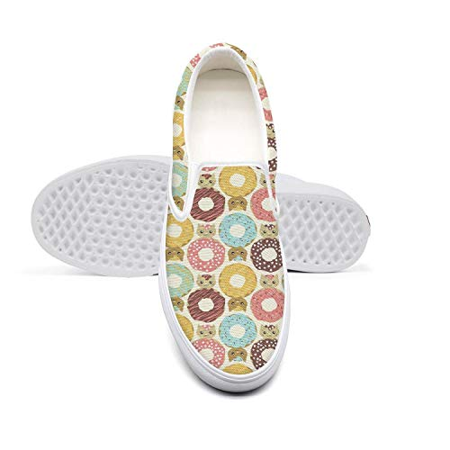 Women's Lazy Canvas Slip-On Shoes Donut Cats Dunutcats