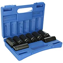 """Grey Pneumatic 1708SN 1/2"""" Drive 12-Point Axle/Spindle Nut Socket Set - 8 Piece"""