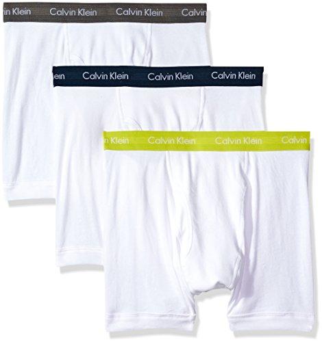 Calvin Klein Men's Underwear Cotton Classics Boxer Briefs (Pack of 3), White/Grey Sky/Rebel/Intuition, X-Large