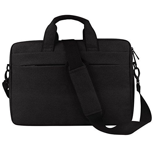 GloryShop 15.6 inch Laptop and Tablet Bag,Business Office Bag,Waterproof Messenger Bag with Shoulder Strap for MacBook Pro/Notebook/Computer/Tablet/Men/Women, Black - Exclusive Multi Compartment Expandable Briefcase