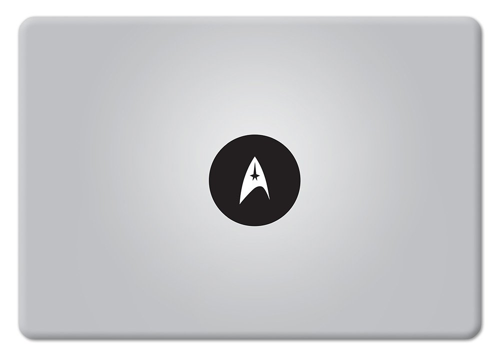 Amazon com star trek logo glowing from apple logo macbook decal vinyl sticker apple mac air pro retina laptop sticker computers accessories