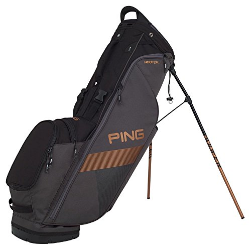- PING 2018 Hoofer Lite Carry Stand Golf Bag, Graphite/Black/Canyon Copper