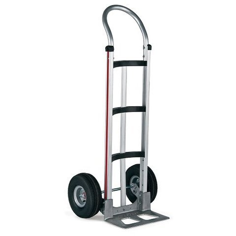 Magliner Hand Truck with Curved Loop Handle 14'' Nose 10'' Air Tire 311-A-1060