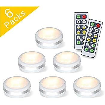 Shineled Wireless Led Puck Lights Under Cabinet Lighting