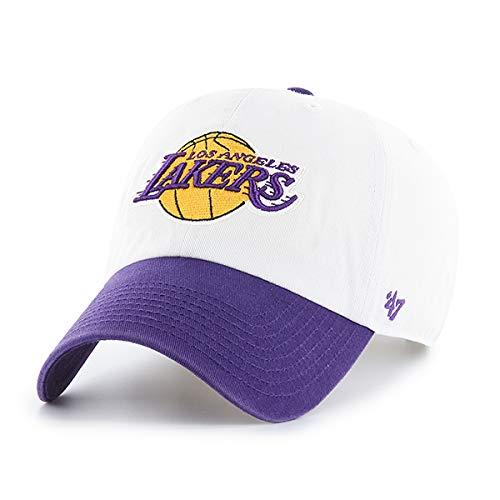 '47 Brand Los Angeles LA Lakers NBA Clean Up Hat Cap White/Purple