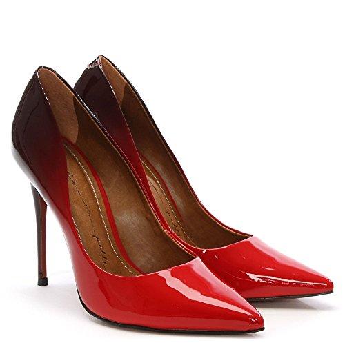 Pelle Red in Patent Cristina Rote Pumps Patent Ombre Moda zAvqx575