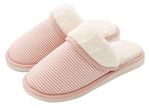 Indoor Stripe Slipper Cotton Pink Blend Natural LINENLUX Thicken P1YYq