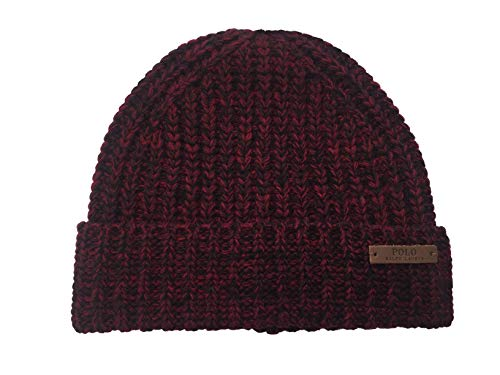 n`s Chunky Knit Wool Beanie (Heather Red(PP0086-620)/Black, One Size) ()