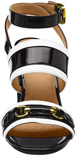 Negro Audalies White C Sandalia Black Geox High para con Pulsera D Sandalo Mujer Rvaxnw5xgU