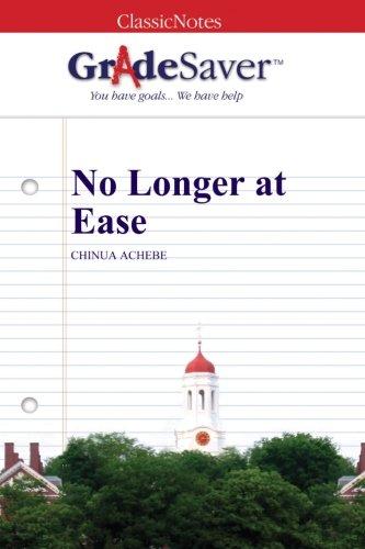 chinua achebe no longer at ease