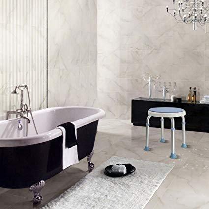 Active Authority 360 Degree Adjustable Skidproof Shower Stool Bath Seat, Aluminum Alloy
