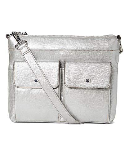 Tignanello Voyager Convertible Cross Body W/RFID Protection, Silver