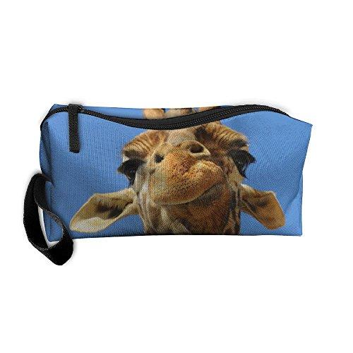 Jessent Coin Pouch Funny Giraffe Pen Holder Clutch Wristlet Wallets Purse Portable Storage Case Cosmetic Bags Zipper