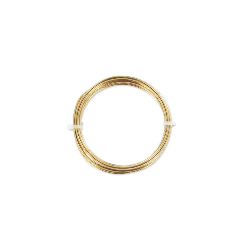 Perles /& Co Filo Ottone tondo 1,5 mm grezzo x1.75 m