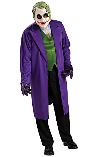 Batman The Dark Knight Joker Costume, Black/Purple, Standard