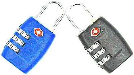 Heavy Duty et Haute s/écurit/é r/éinitialisable Cadenas Sacs de Voyage et casiers de Sport 2-Pack valises Jyhy Certifi/é TSA /à Combinaison 3 Chiffres Verrouille pour Bagages