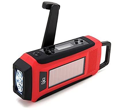 Epica Digital Emergency Solar Hand Crank AM/FM/NOAA Radio, Flashlight, Smartphone Charger with NOAA Certified Weather Alert & Cable-ONE CABLE DOES ALL from Epica