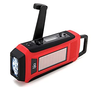 419R16j9a9L. SS300  - Epica Digital Emergency Solar Hand Crank AM/FM/NOAA Radio, Flashlight, Smartphone Charger with NOAA Certified Weather Alert & Cable-ONE CABLE DOES ALL