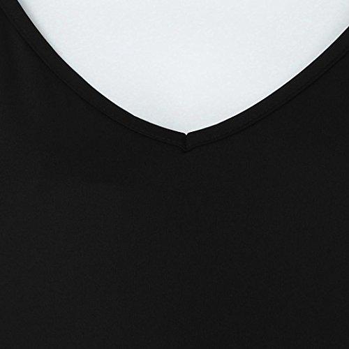 Soirée Parties Couleur Slim Robes V Noir Maternité Adeshop Sling Grande Élasticité De Nouveau 2018 D'été Taille Sexy Deep Casual Sans Cocktail Pure Femmes Jupe Manches Col UOwq5H