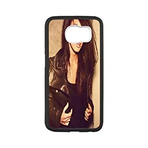 Samsung Galaxy S6 Cases Megan Fox Leather Jacket, Samsung Galaxy S6 Edge Case Beautiful - [White] Kaktana