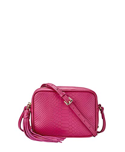 GiGi New York Women's Madison Embossed Python Crossbody Peony ()