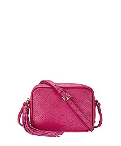Handbag Designer Gigi - GiGi New York Women's Madison Embossed Python Crossbody Peony