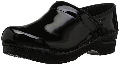 Sanita Negro Zuecos de cuero Black 4 Patent mujer 2 457406W Professional Schwarz para 6aqwgrZ6