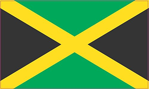 5in x 3in Jamaica Jamaican Flag Bumper Sticker Decal Vinyl Car Window Stickers Decals