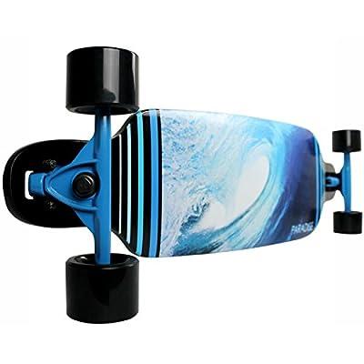 Paradise Longboard Complete Drop Thru Barrel Wave 2 9 x 40' Freestyle : Longboard Skateboards : Sports & Outdoors