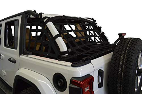 Dirtydog 2018 Jeep Wrangler JLU 4 door Netting 3pc Kit Cargo Sides Black JL4N18RCBK (Dirtydog)